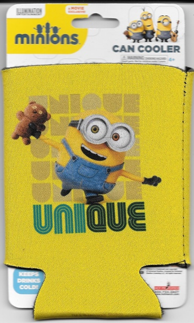 Minions Movie Unique Bob With Teddy Bear Beer Huggie Can